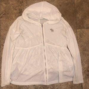 lace sweat jacket